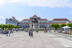 Sopot SPA. View of SPA House on 26 May 2018 in Sopot, Poland Royalty Free Stock Image