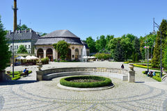 View of Spa House in park of town Kudowa Zdroj on May 20, 2014. royalty free stock photography