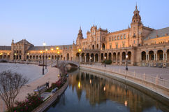 A view of Spain Square Stock Photography