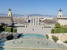 View on the Spain Square Placa Espanya, Barcelona, Spain Stock Photography