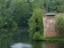 View of Spandau Citadel. One of the towers of Spandau Citadel stock images