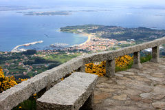 View upon spanish fishing industry from lookout Stock Image