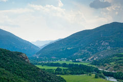View of Spanish Pyrenees Stock Photography