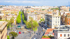 View of the Spanish square from the top, Rome Royalty Free Stock Images