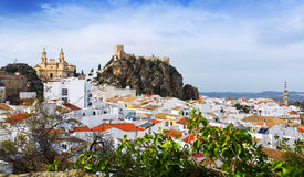 View of  spanish town.  Olvera,   province of Cadiz Royalty Free Stock Photography
