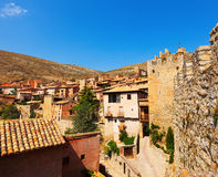 View of spanish town in summer Royalty Free Stock Photo