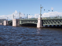A view of the spans of the Palace bridge i Stock Photography