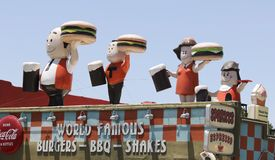 A View of Sparkys, a Roadside Attraction in Hatch in New Mexico Stock Image