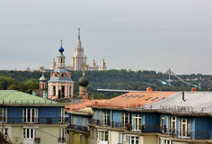 View on Sparrow Hills in Moscow Stock Photography
