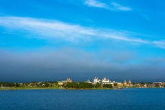 View on Solovetsky monastery from the White sea. Stock Photo