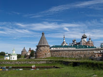 View of the Spaso-Preobrazhensky Solovki monastery Royalty Free Stock Photos