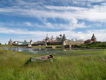 View of the Spaso-Preobrazhensky Solovki monastery Royalty Free Stock Images