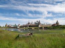 View of the Spaso-Preobrazhensky Solovki monastery Royalty Free Stock Images