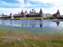 View of the Spaso-Preobrazhensky Solovki monastery, Russia Royalty Free Stock Photo