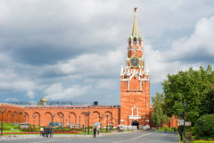 View of the Spasskaya tower Royalty Free Stock Images