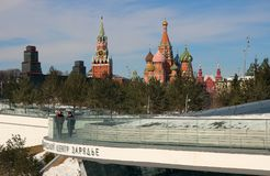 View of the Spassky Tower and the Pokrovsky Cathedral Royalty Free Stock Image