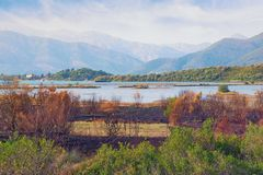 View of reserve Solila  on a sunny autumn day. Tivat, Montenegro. View of special botanical and animal reserve Solila  home to rare bird species on a sunny Royalty Free Stock Photos
