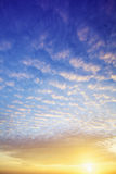 View of a spectacular sky at sunset Royalty Free Stock Photos