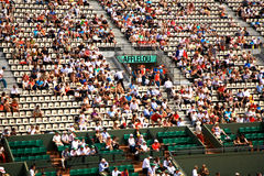 A view of the spectators at Roland Garros 2012. View of the spectators at Roland Garros main arena (Philippe Chatrier central court Royalty Free Stock Images