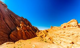 Spectecular mountain landscape next to Gorges du Dades in Morocco stock photography