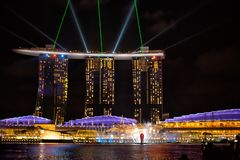 View of the Spectra Light and Water show stock image