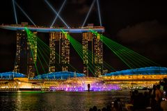 View of the Spectra Light and Water show royalty free stock image