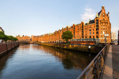 View of the Speicherstadt, also called Hafen City,  in Hamburg, Stock Photography