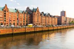 View of the Speicherstadt, also called Hafen City,  in Hamburg, Stock Photos