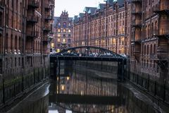 Speicherstadt warehouse district, Hamburg, Germany, Hamburg, Germany royalty free stock image