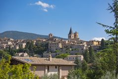 View of Spello. Spello, picturesque village in Umbria, province of Perugia, Italy royalty free stock photography