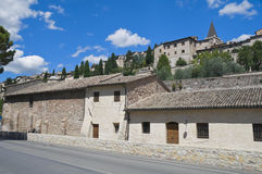 View of Spello. Umbria. Royalty Free Stock Photography