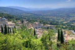 View of Spello. Umbria. Stock Photography