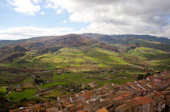 View of Sperlinga, Sicily Royalty Free Stock Images