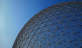 View of the spherical roof of the Environment Museum royalty free stock image