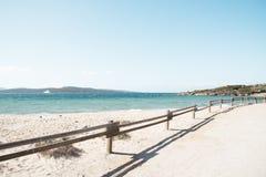 Spiaggia dell Isola dei Gabbiani beach in Sardinia. A view of the Spiaggia Isola dei Gabbiani beach in Porto Puddu, Sardinia, Italy, with the Isola Isuledda royalty free stock photo