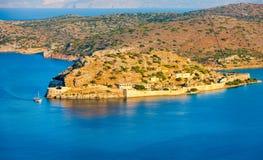Island of Spinalonga, Crete, Greece Royalty Free Stock Photos