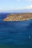 View of Spinalonga island, Crete, Greece. Royalty Free Stock Photo