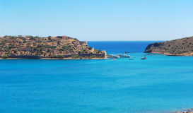 The view on Spinalonga Island Stock Photos
