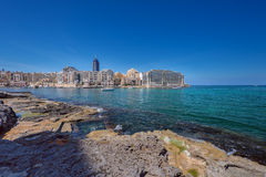 View on Spinola bay St Julian Royalty Free Stock Image