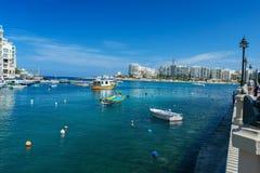 View on Spinola bay St Julians. Spinola bay, St Julian's, Malta Stock Photo