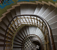 View of the spiral staircase Royalty Free Stock Photos
