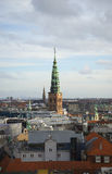View of the spire of the Church of St. Nicholas. Copenhagen, Denmark Stock Images