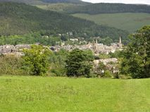 View over Peebles in the Scottish Borders Royalty Free Stock Photography