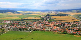 View from of Spis Castle, Slovakia. View from of Spis Castle - Slovakia stock photography