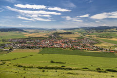 View of Spisske Podgradie from the observation point of the Spis Stock Image