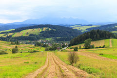 View from Spisz to The Tatra Mountains Royalty Free Stock Photos