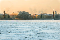 View of the Spit of Vasilyevsky Island in St. Petersburg. Russia Stock Photos