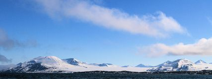 View of Spitzbergen from the ocean. Royalty Free Stock Images