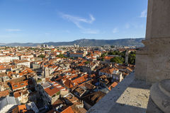 View of Split's old town and beyond from above Royalty Free Stock Photos