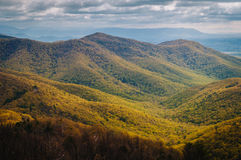 View of spring color in the Blue Ridge Mountains from Blackrock Royalty Free Stock Image